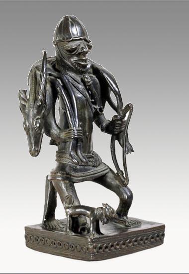 yoruba bronze hunter